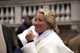 "Emma Thompson on the set of ""Effie"" in Venice"