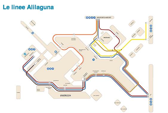 Vaporetto Map Routes Lines And Stops LivingVENICE - Venice transport map